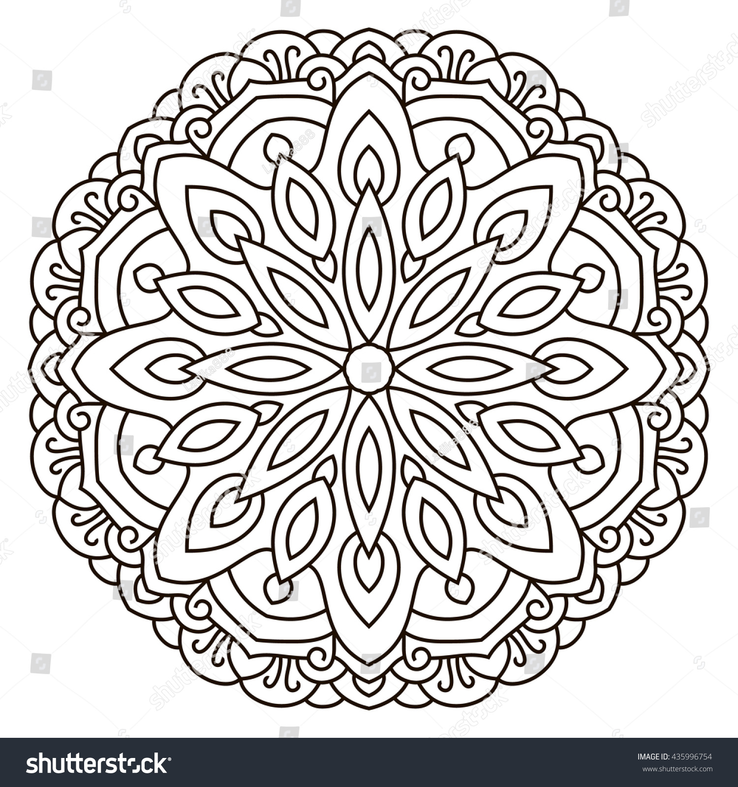 royalty free symmetrical circular pattern mandala u2026 435996754