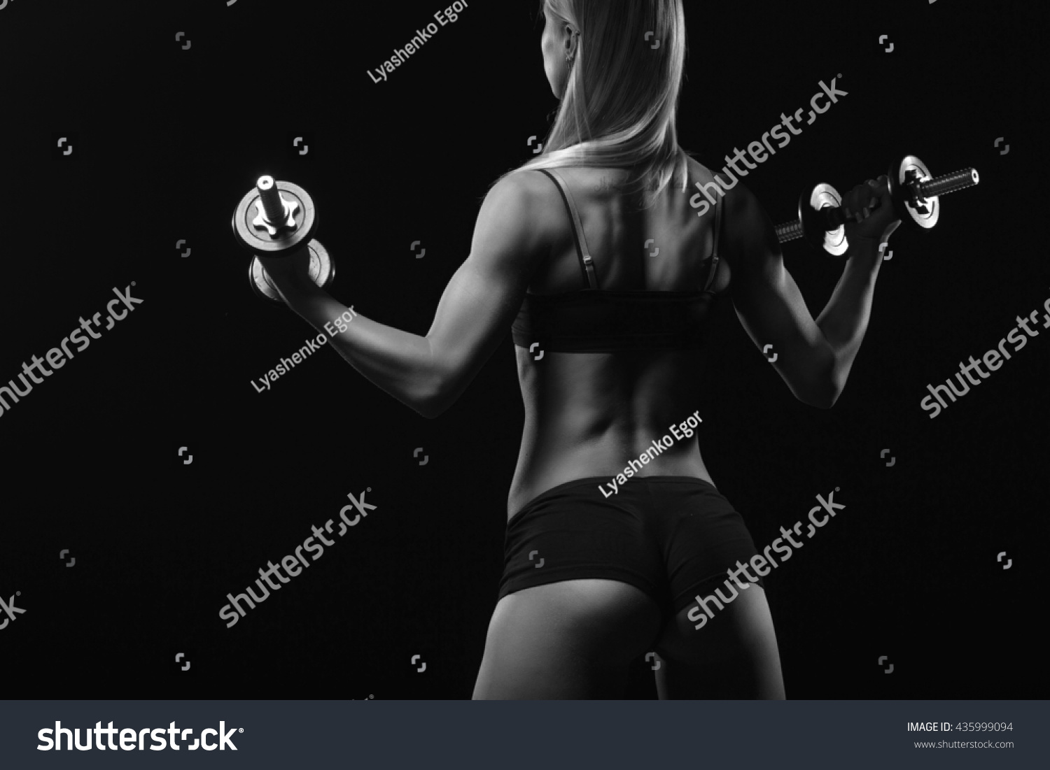black white fitness ass closeup part stock photo (royalty free