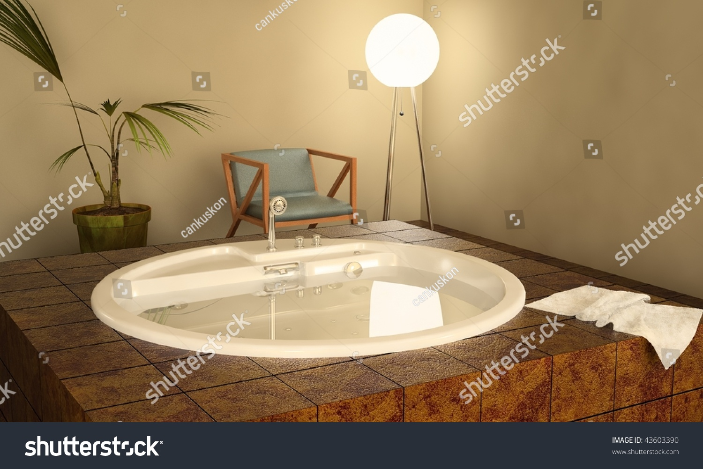 Modern spa interior jacuzzi stockillustration u shutterstock