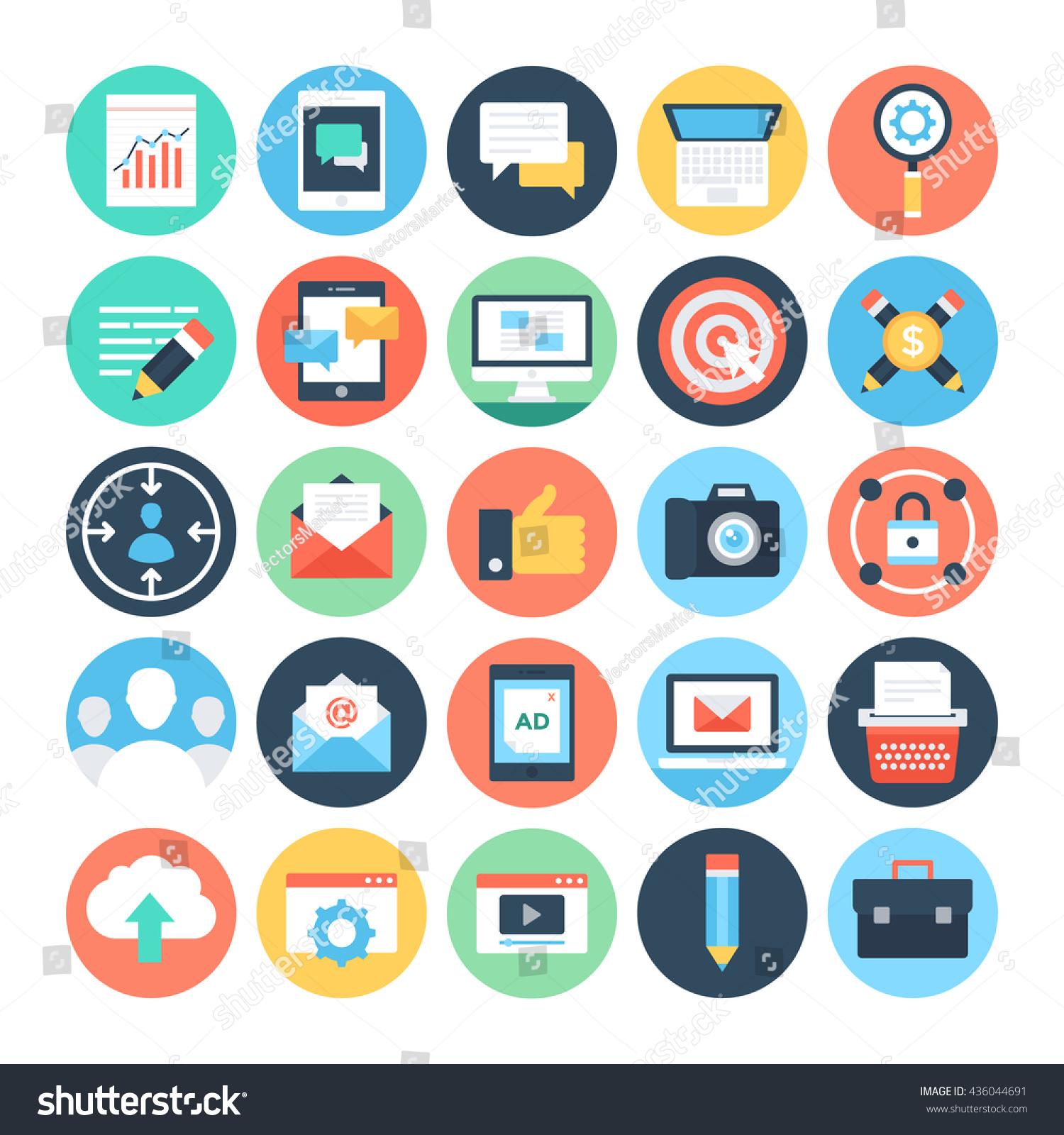 digital marketing vector icons 1 stock vector royalty free 436044691 https www shutterstock com image vector digital marketing vector icons 1 436044691