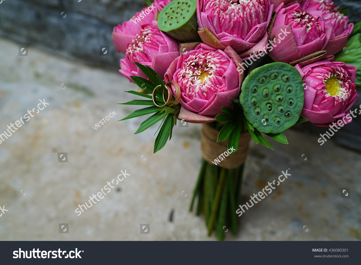 Lotus Bouquet Flower Wedding Stock Photo (Edit Now) 436080301 ...