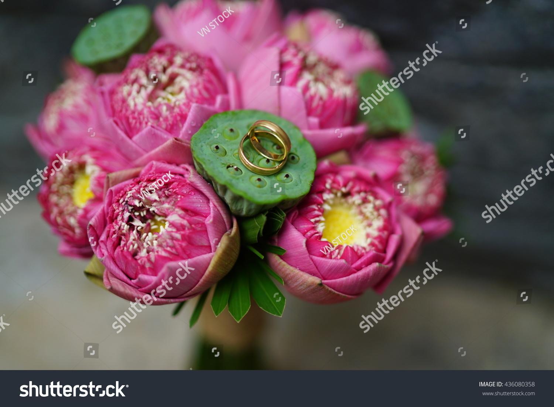 Lotus bouquet flower for wedding ez canvas id 436080358 izmirmasajfo