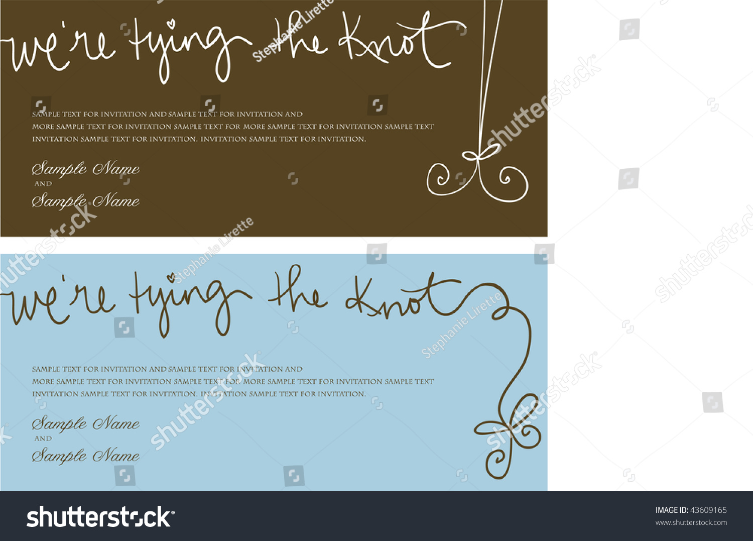 The Knot Addressing Wedding Invitations: We'Re Tying The Knot Stock