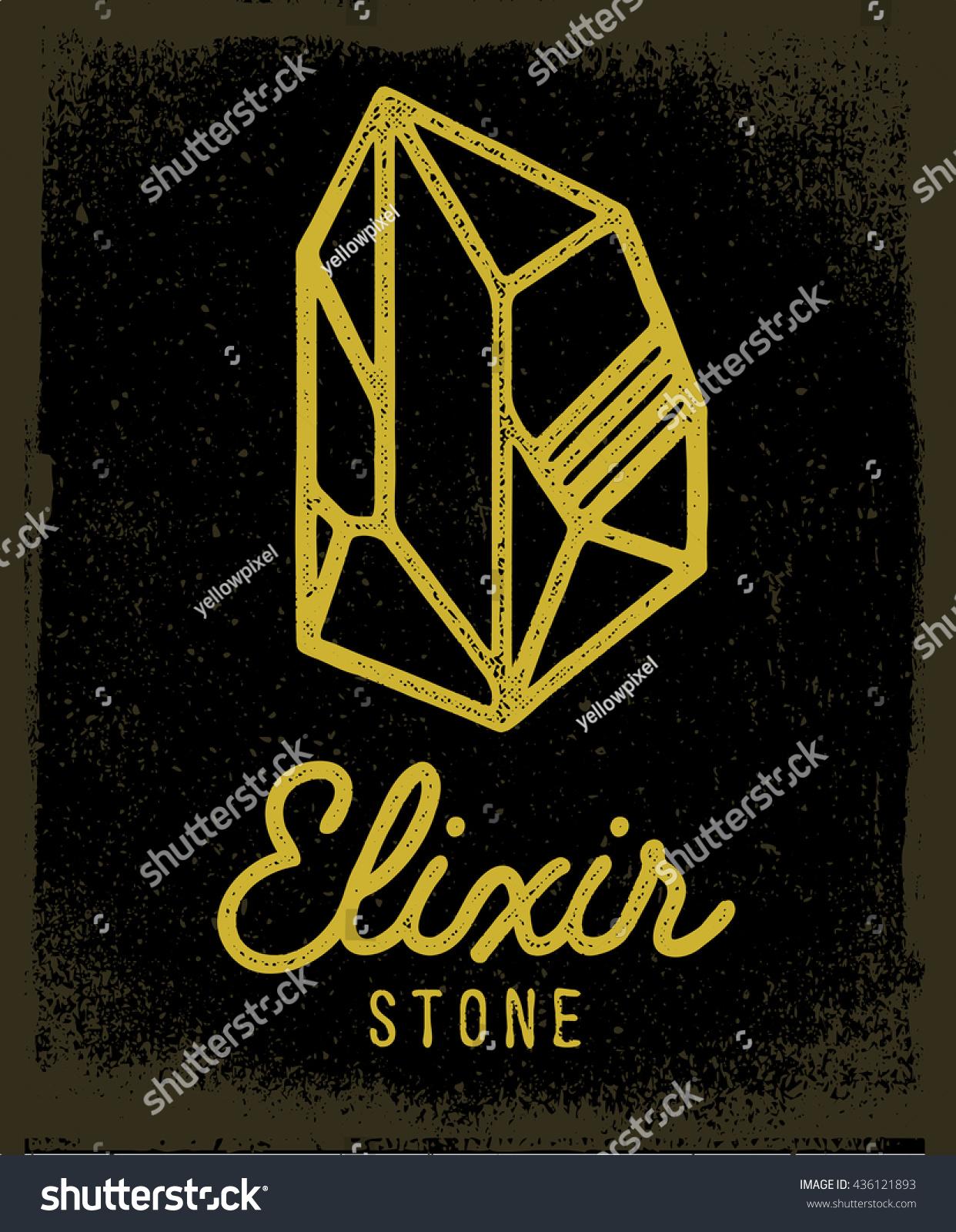Elixir Stone Logo Vector Symbol Magic Stock Photo Photo Vector