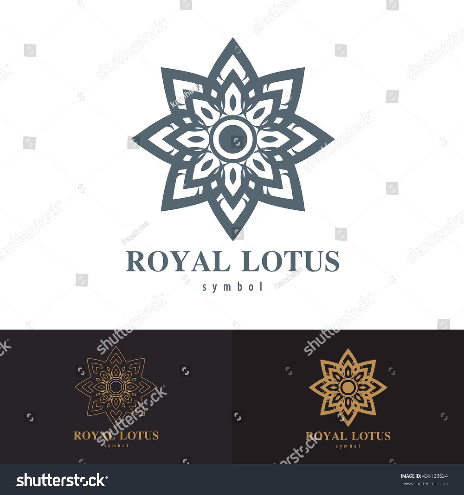Royal Lotus Symbol Icon Design Vector Stock Vector 436128634 ...
