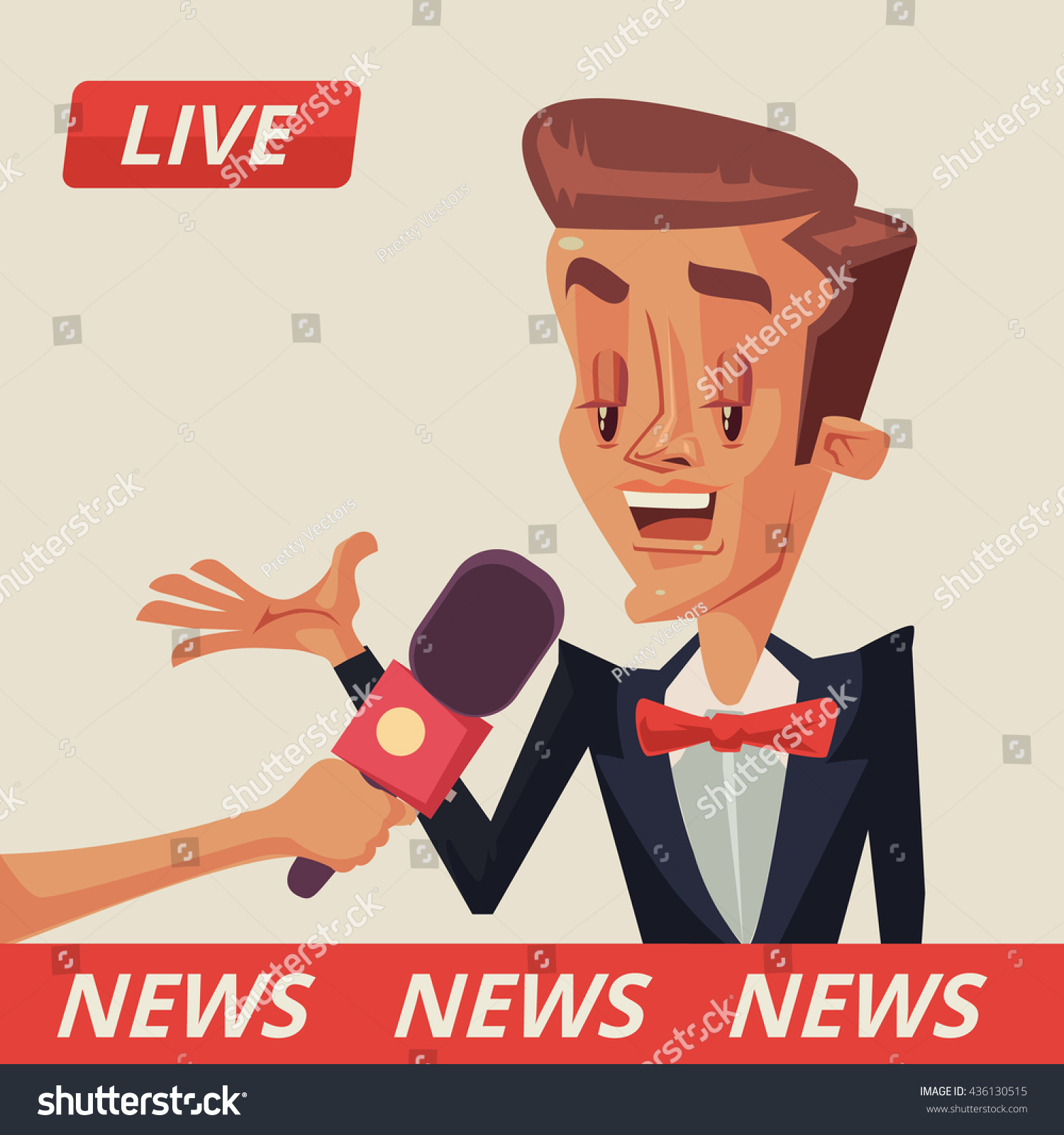 live interview interviews politicians interview movie stock vector live interview interviews politicians interview movie star vector flat cartoon illustration