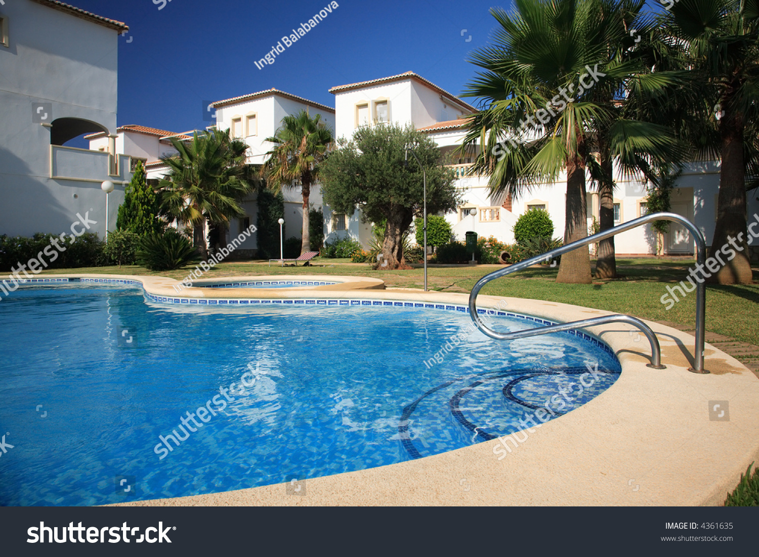 Spanish villas with swimming pool stock photo 4361635 shutterstock for What is swimming pool in spanish