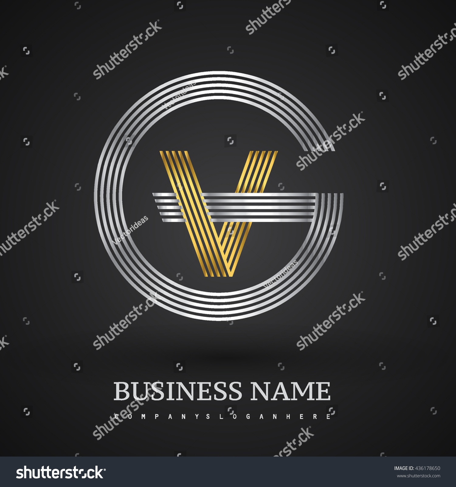 Letter gv vg linked logo design stock vector 436178650 shutterstock letter gv or vg linked logo design circle g shape elegant silver and gold colored buycottarizona Image collections