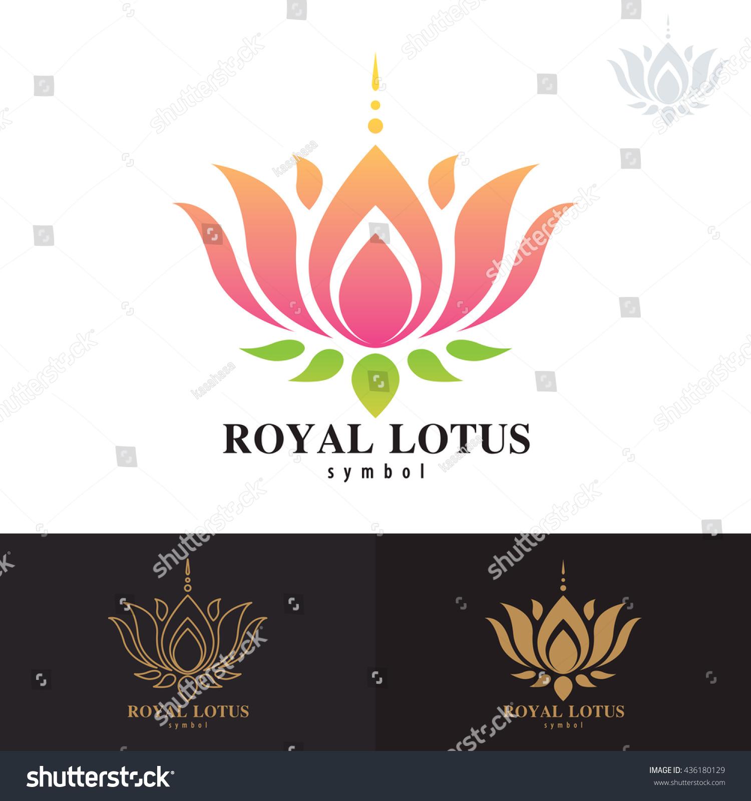 Royal Lotus Symbol Icon Design Vector Stock Vector HD (Royalty Free ...