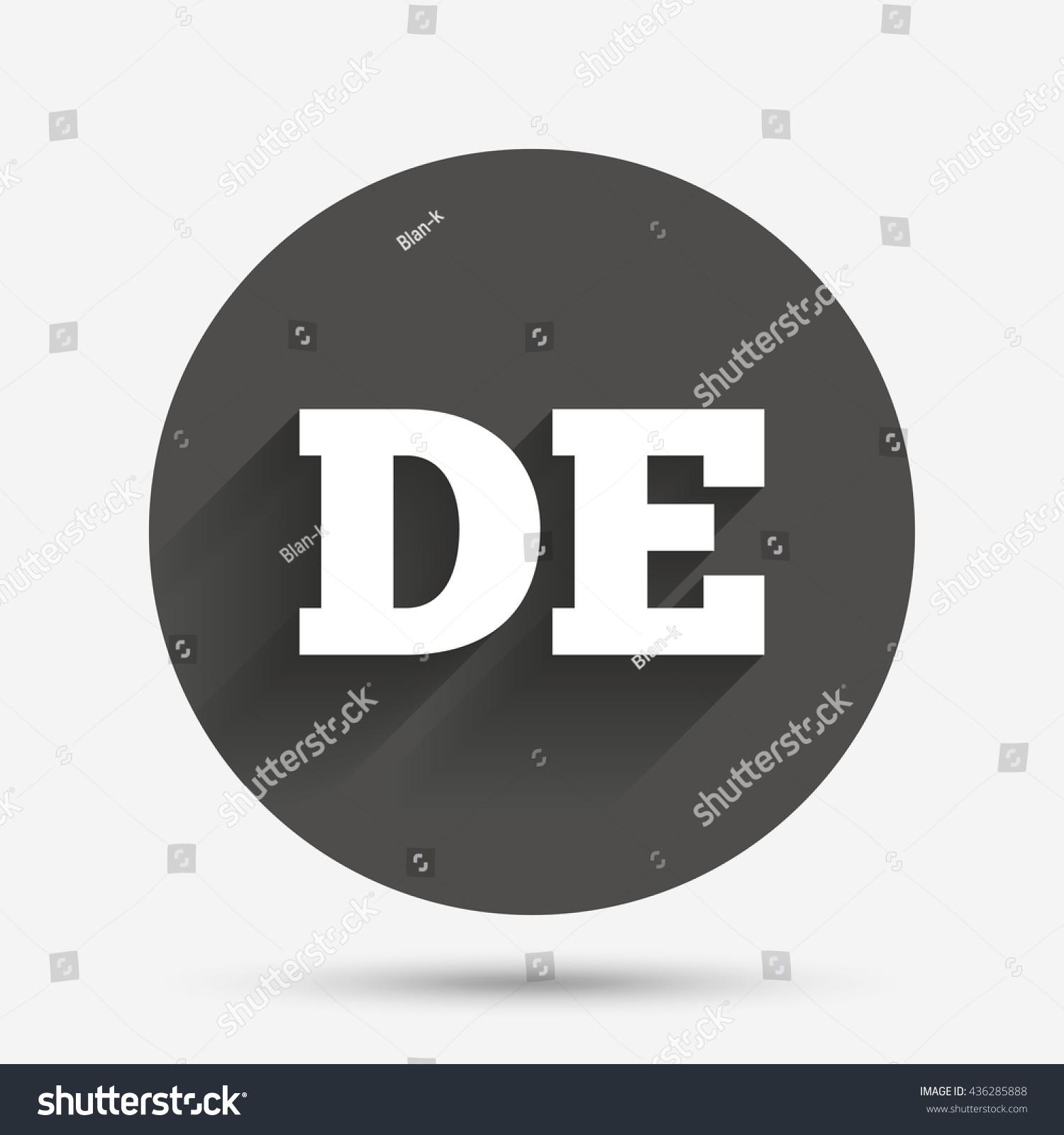 German language sign icon de deutschland stock vector 436285888 de deutschland translation symbol circle flat button with shadow biocorpaavc