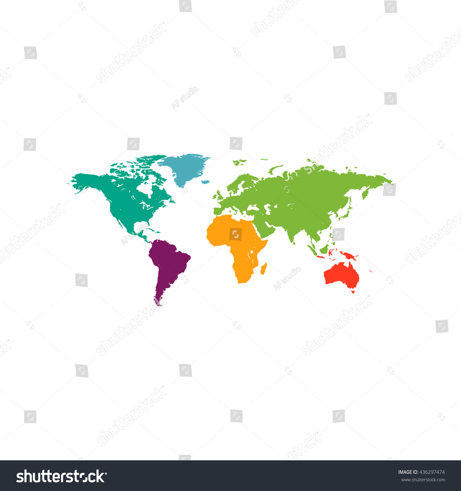 Map world color simple flat icon stock illustration 436297474 map of the world color simple flat icon on white background gumiabroncs Images