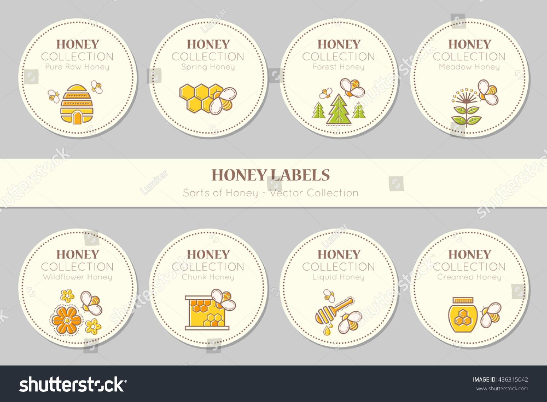 Vector Label Sticker Template Round Emblems Image Vectorielle De