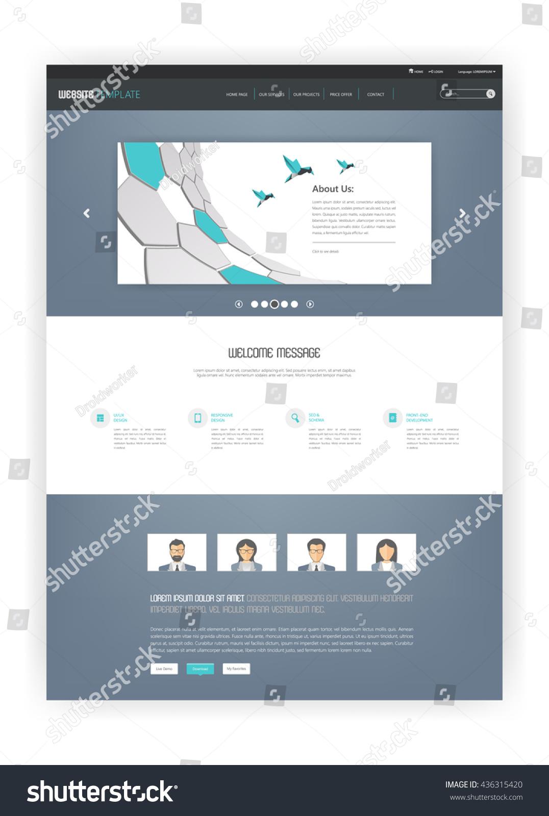Simple One Page Website Template Design Ez Canvas