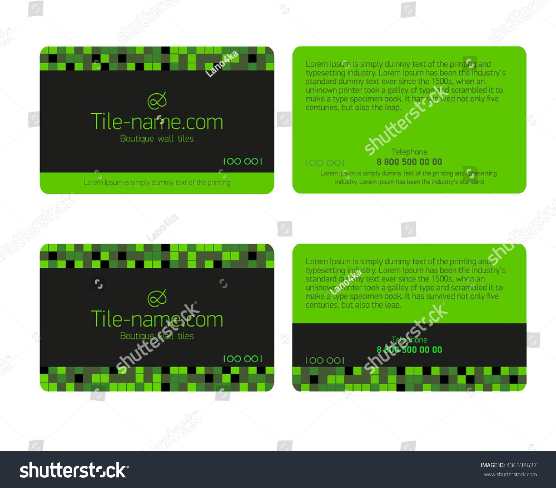 green loyalty card design template beautiful stock vector