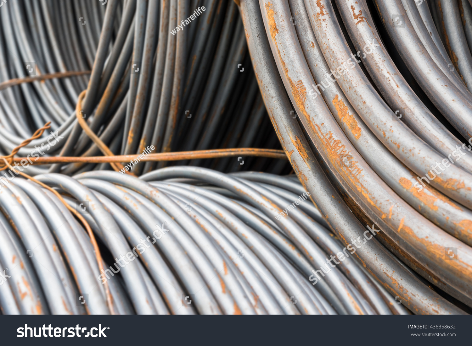 Stack Rusty Wire Coil Round Wire Stock Photo & Image (Royalty-Free ...