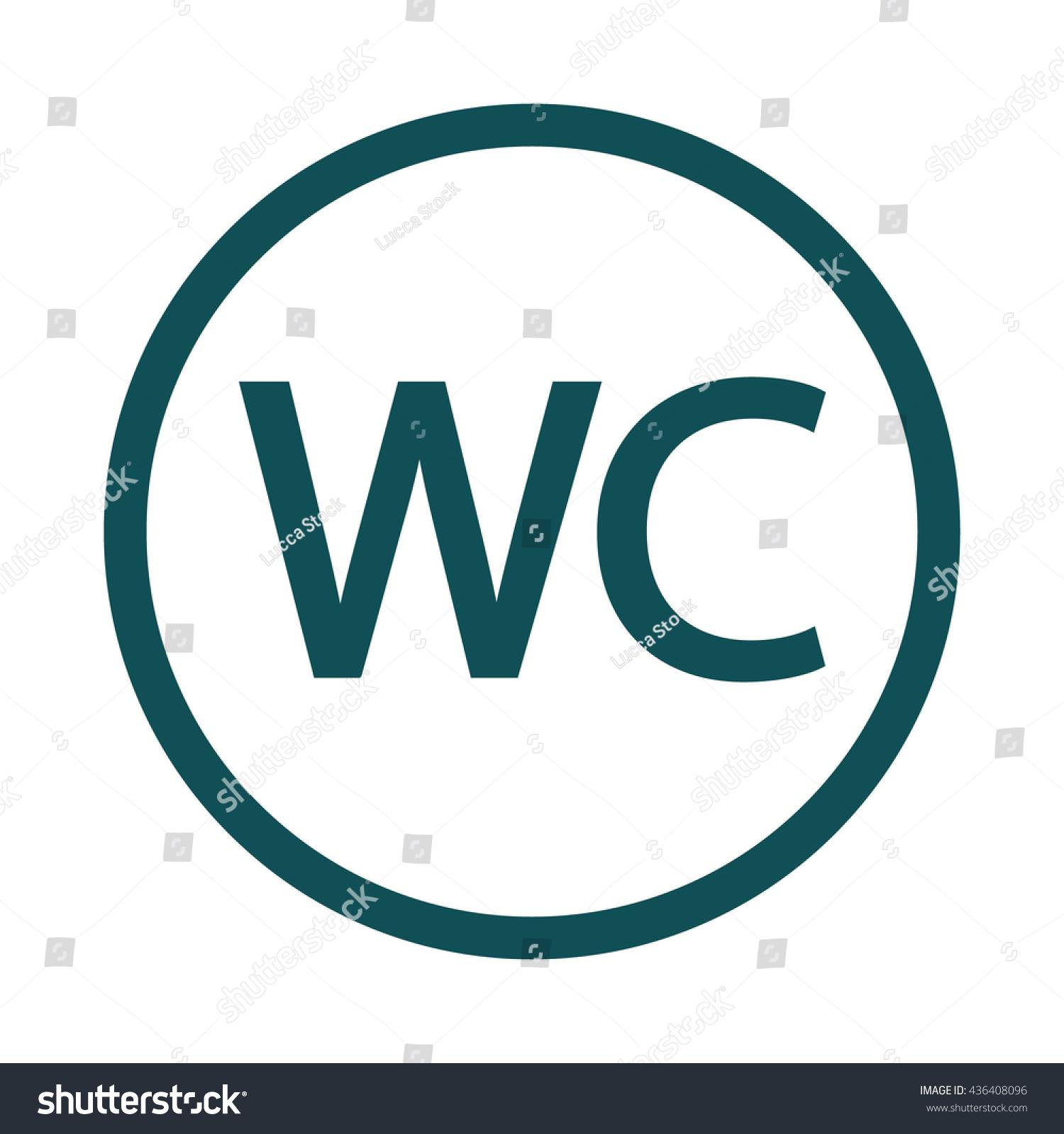 Wc toilette icon circle button vector illustration