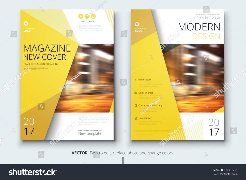 Magazine Design Corporate Business Template Brochure Stock
