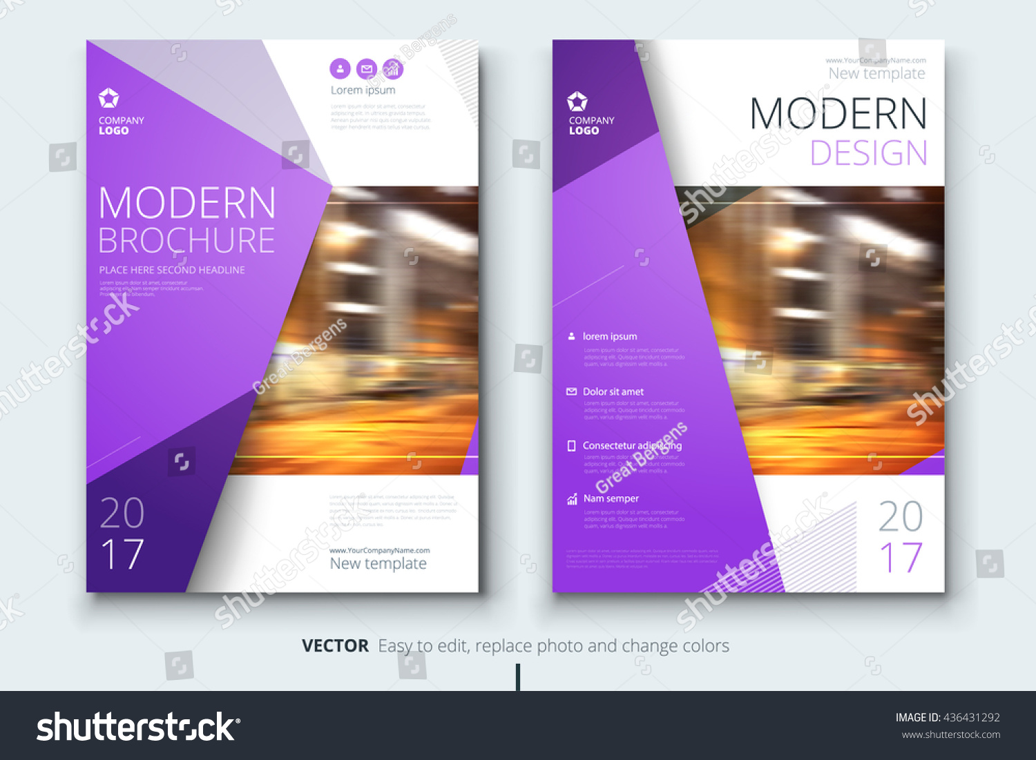 Brochure design corporate business template annual stock for Booklet brochure template
