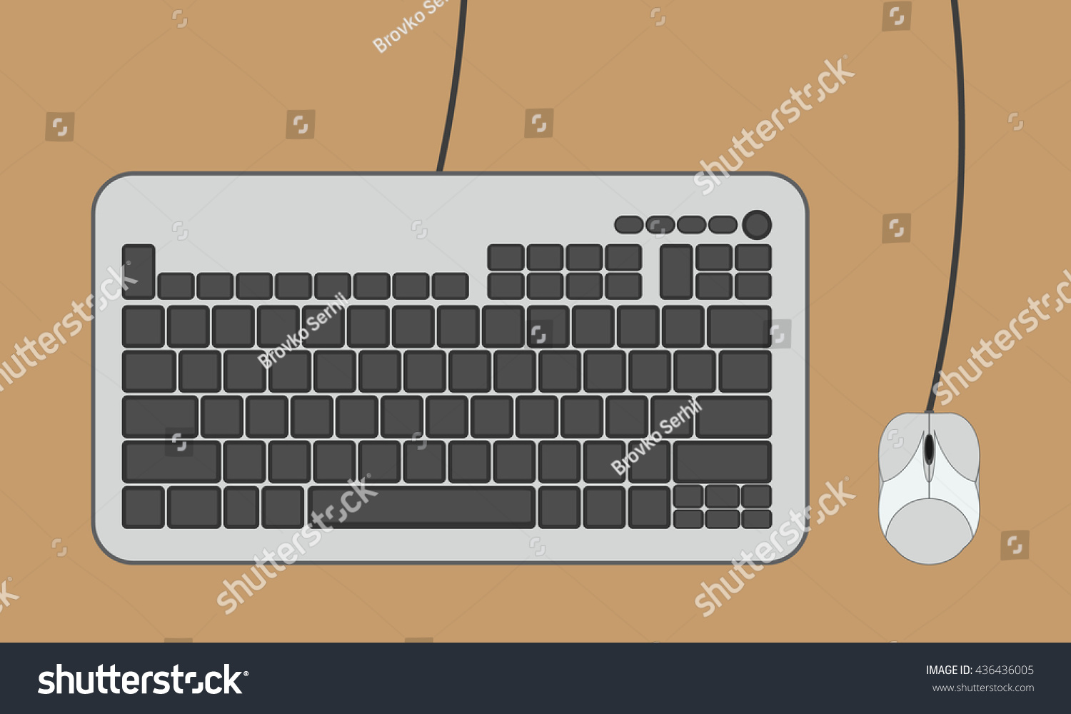 Keyboard Computer Mouse Stock Vector Royalty Free 436436005 Diagram Part In This And