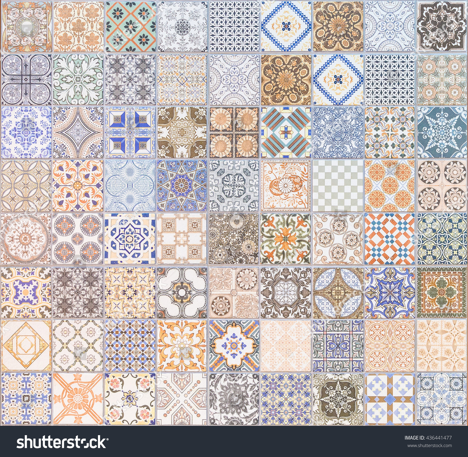Ceramic Tiles Patterns Background Texture Stock Photo (Royalty Free ...