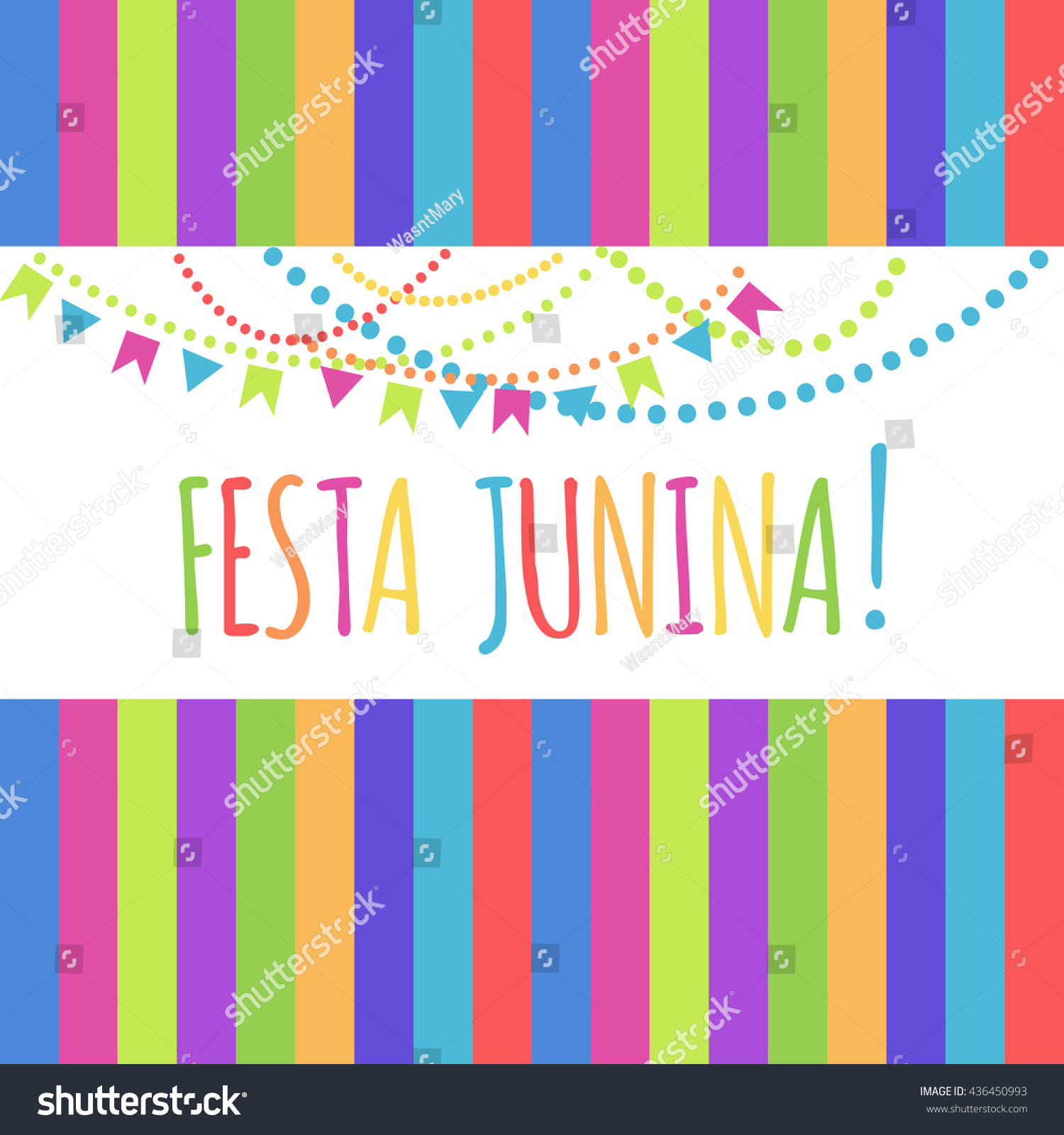 Latin America Holiday Festa Junina Colorful Stock Vector