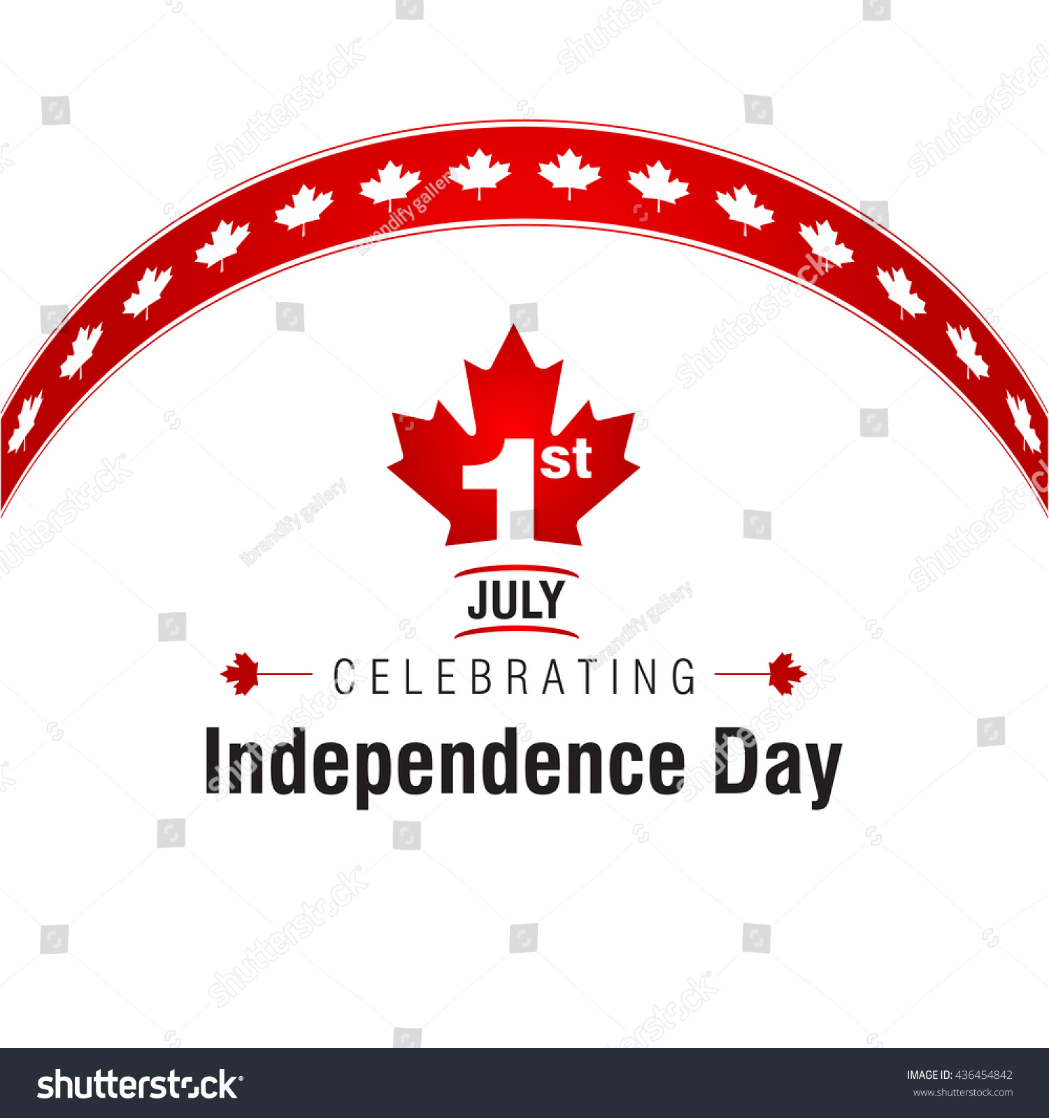 1st July Canada Independence Day Abstract Stock Vector