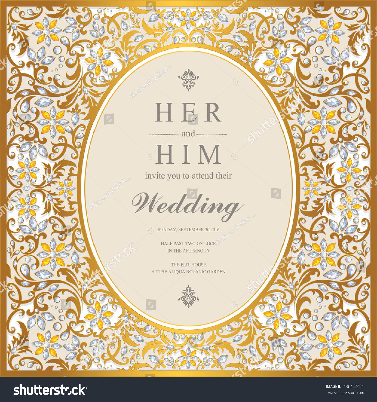 Wedding Card Invitation Card Card Abstract Stock Vector 436457461 ...