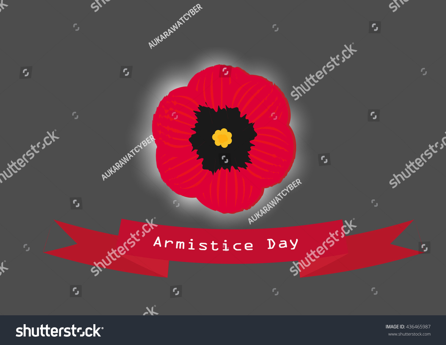 Single poppy flower card vector poppy stock vector 436465987 single poppy flower card vector poppy flower is symbol for armistice day buycottarizona