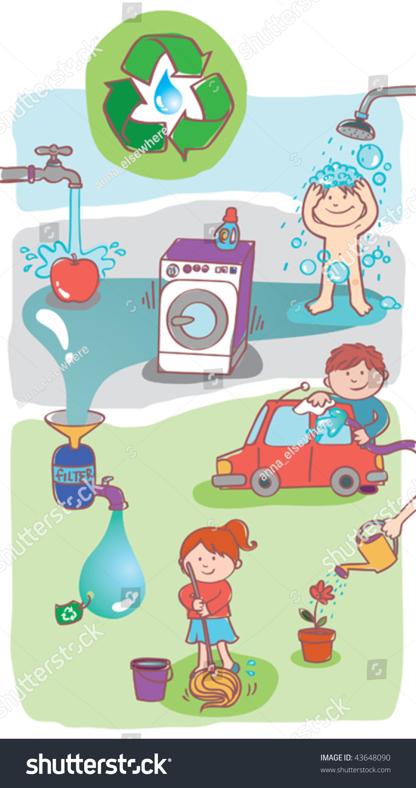 vector illustration showing how use home stock vector