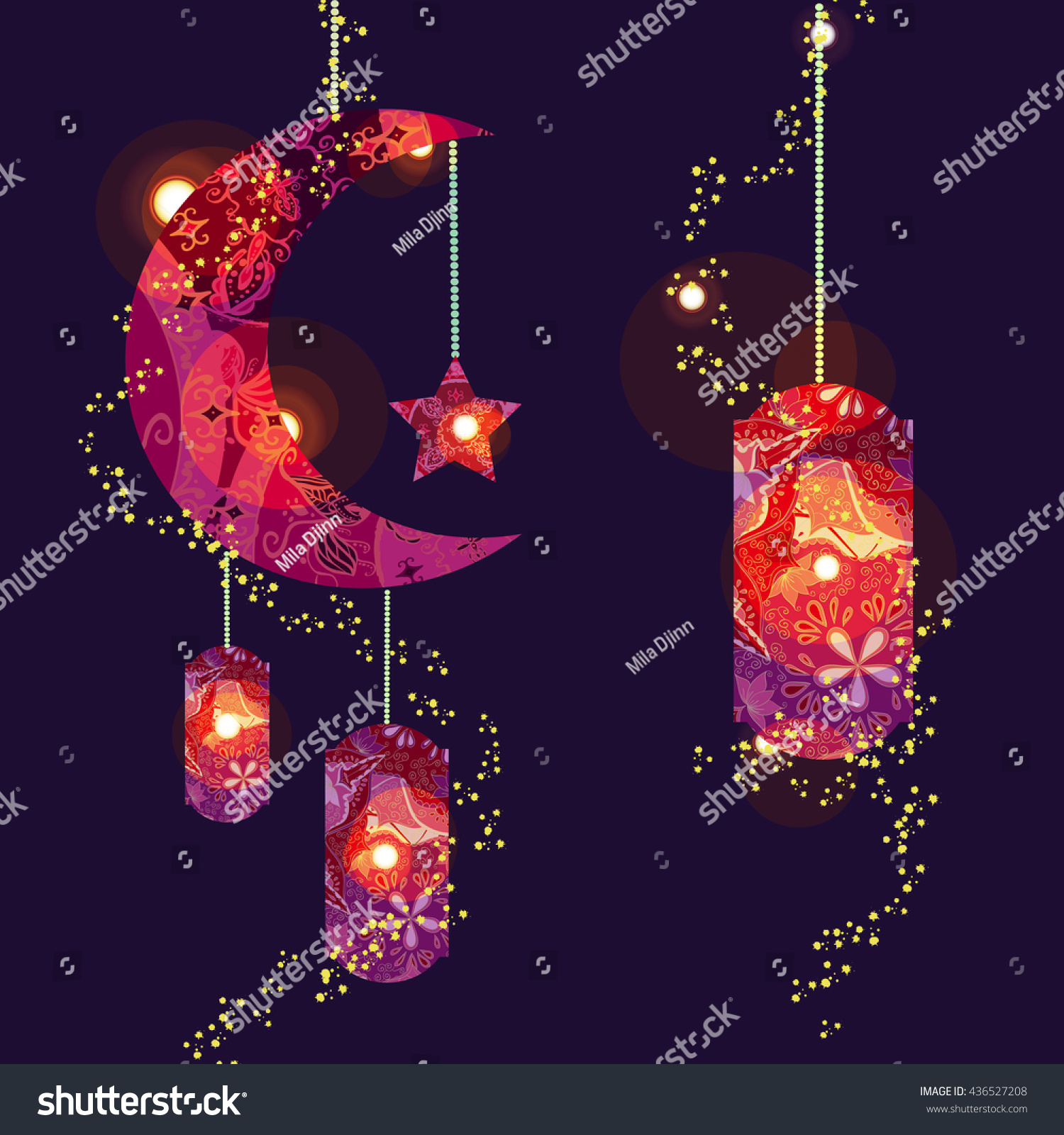 Top Eid Mubarak Eid Al-Fitr Decorations - stock-vector-muslim-festival-eid-al-fitr-eid-mubarak-and-ramadan-concept-with-decorated-moon-and-star-vector-436527208  2018_776959 .jpg