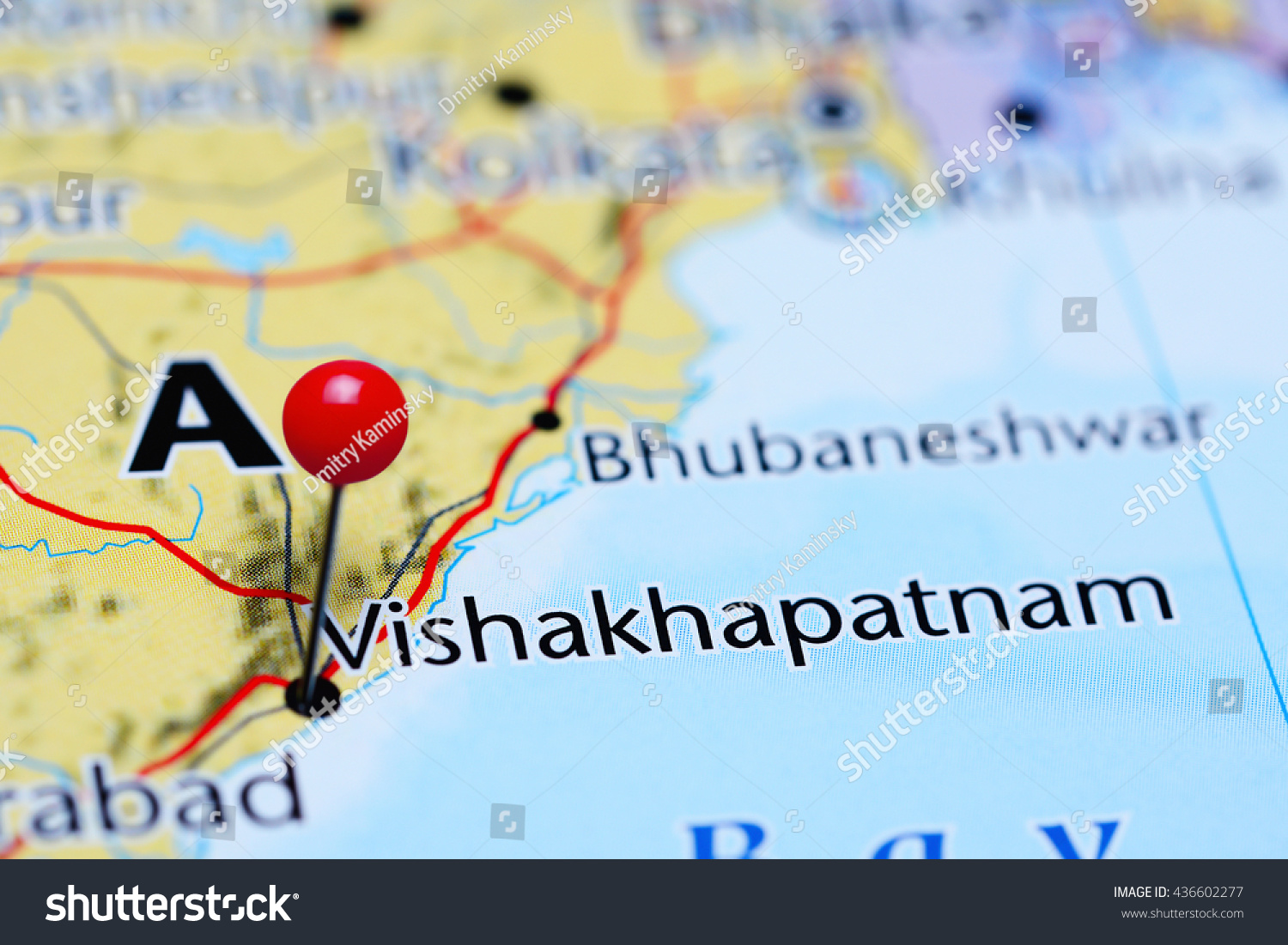 Vishakhapatnam Pinned On Map India Stock Photo 436602277 Shutterstock