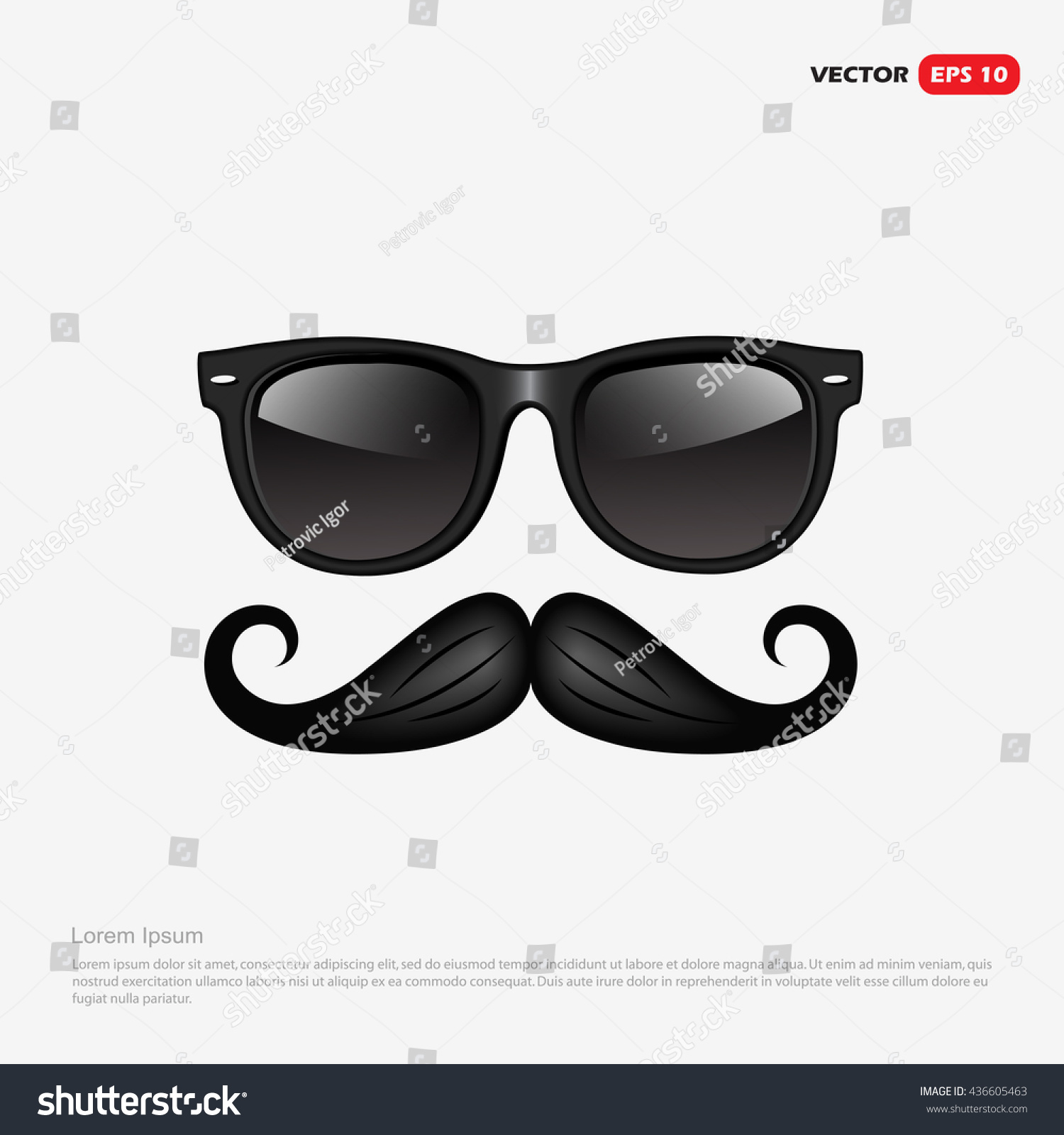 Royalty-free Hipster accessories - retro sunglasses… #436605463 ...