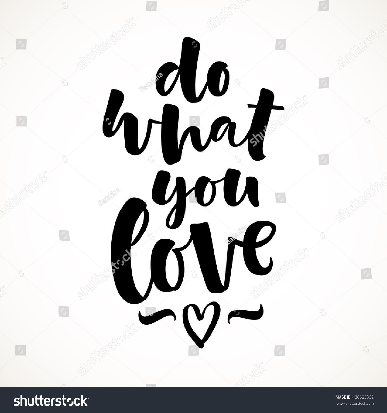 Do what you love vector lettering stock
