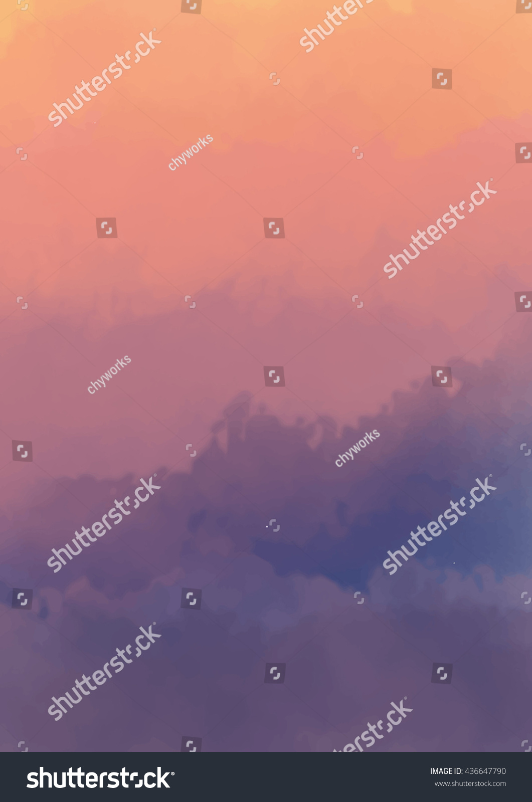 abstract misty mountain watercolor background