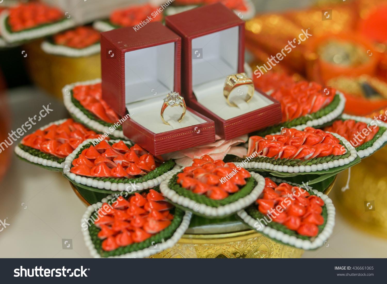 Thai Wedding Gift Thai Engagement Ring Stock Photo Edit Now