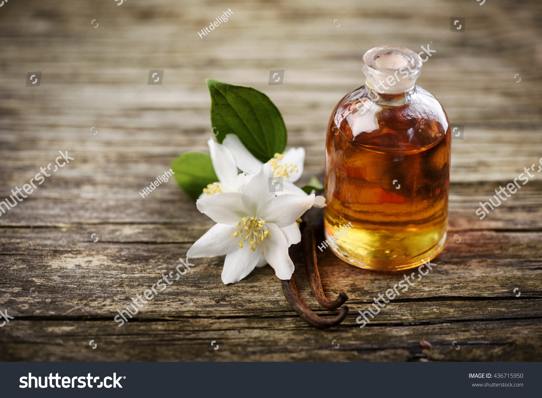 Essential Oil Jasmine Flower Vanilla Stock Photo Edit Now