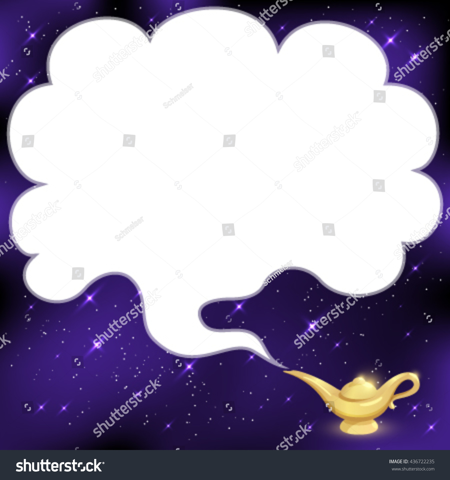 Magical Genie Lamp Smoke Space Text Stock Vector 436722235 ... for Magic Lamp With Smoke  45ifm
