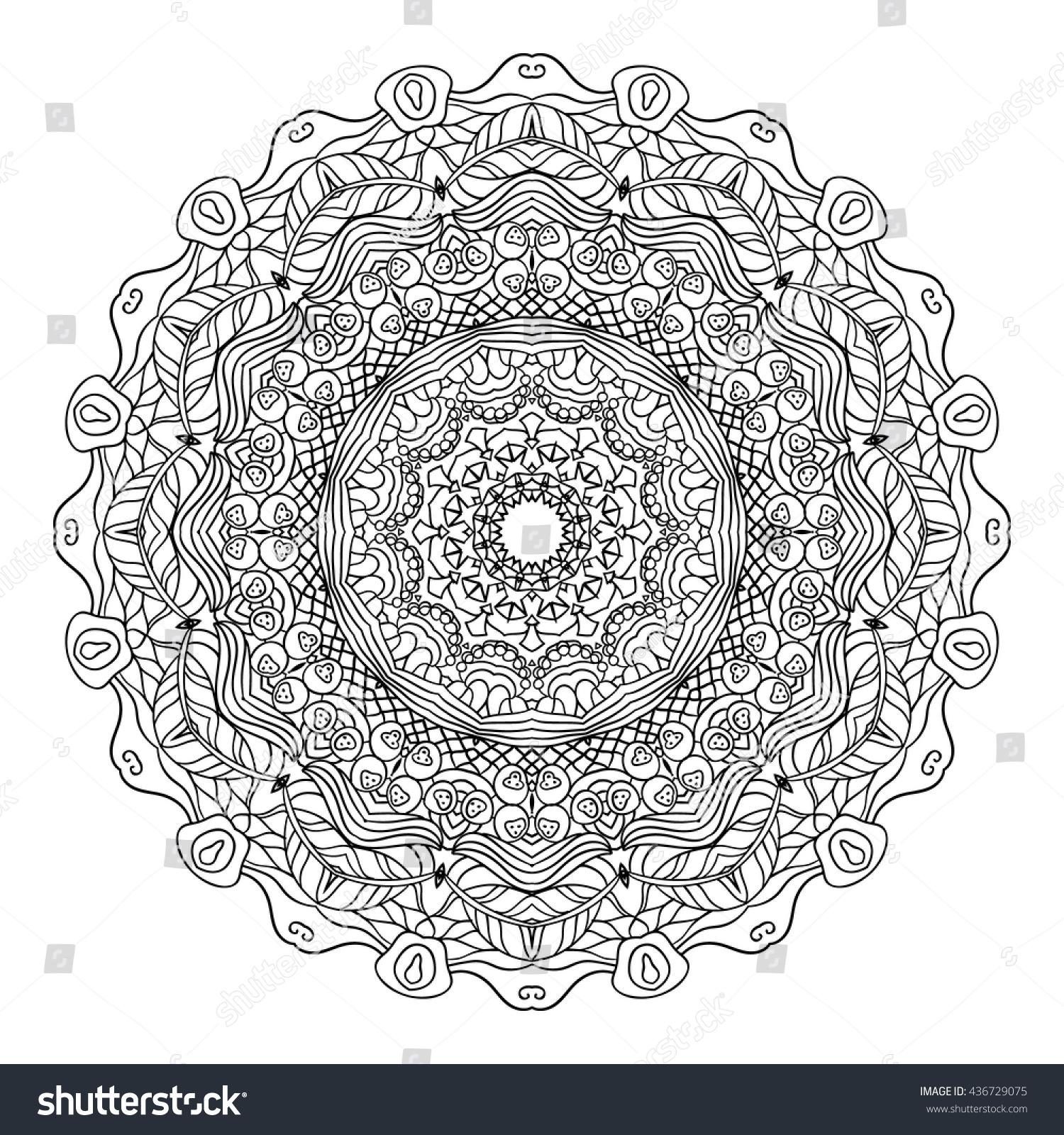 Adult Coloring Page Mandala Vector Art Stock Vector HD (Royalty Free ...