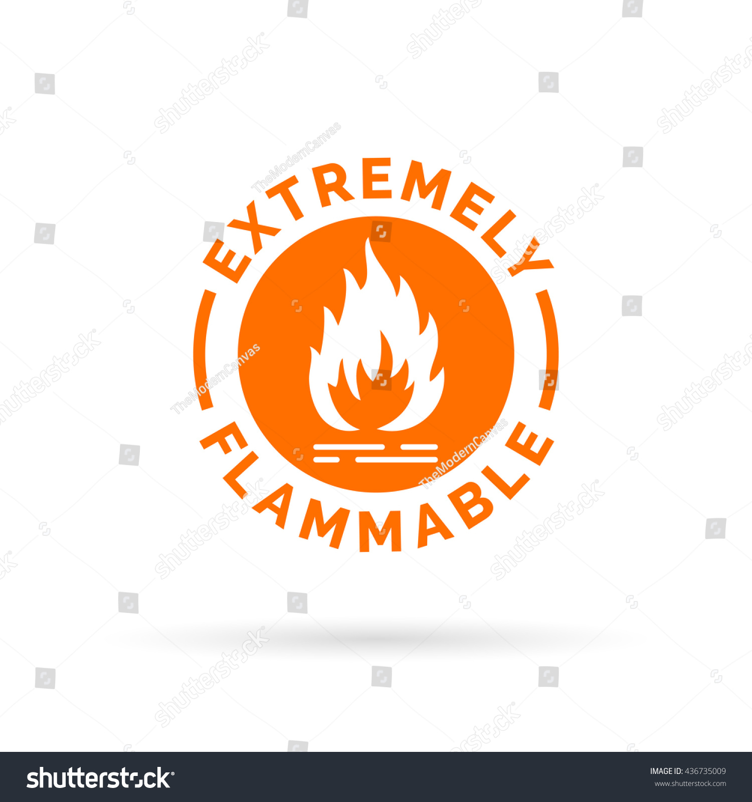 Extremely Flammable Icon Fire Hazard Sign Stock Vector Royalty Free