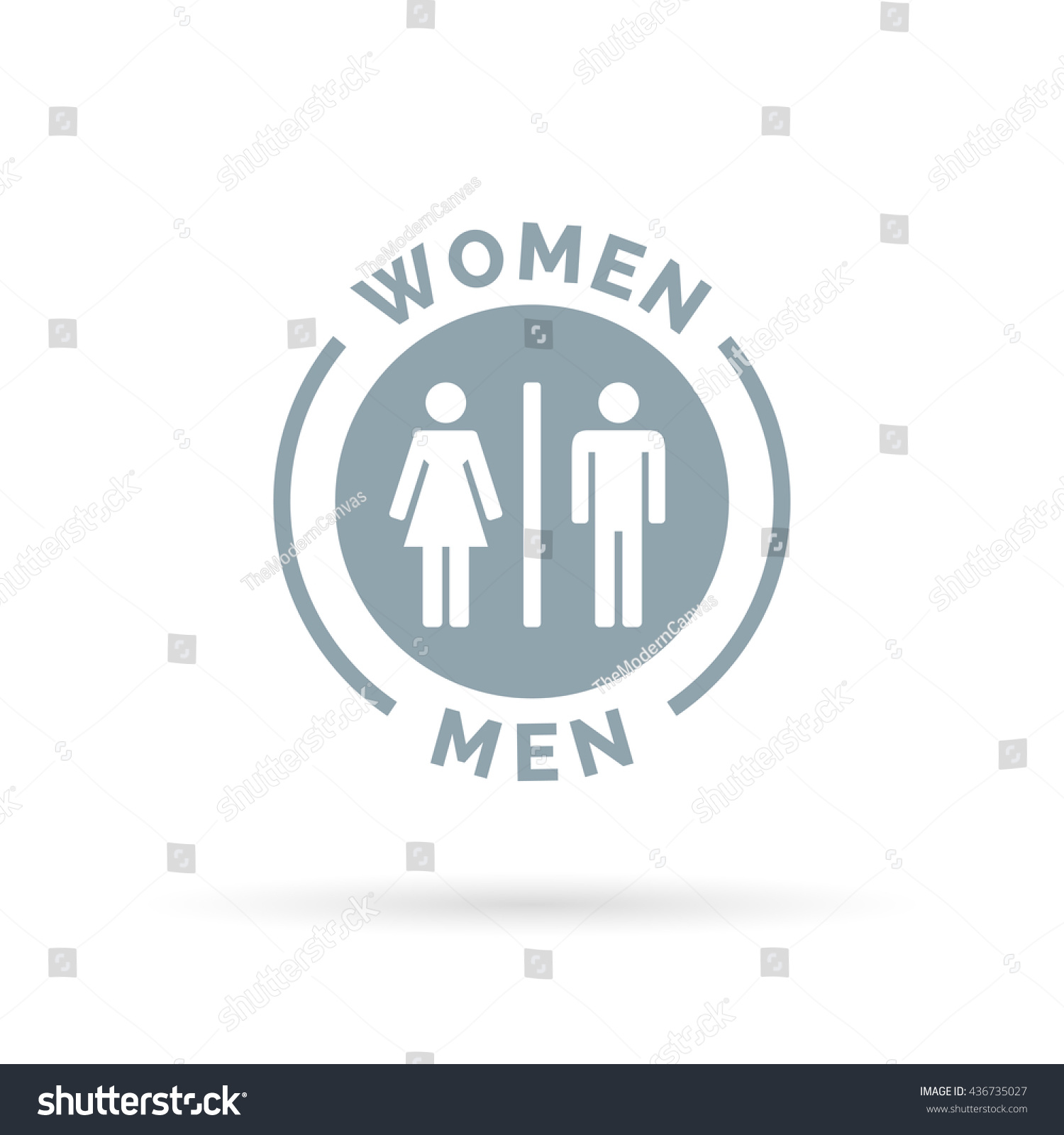 Men And Women Toilet Icon Male And Female Restroom Sign Man And