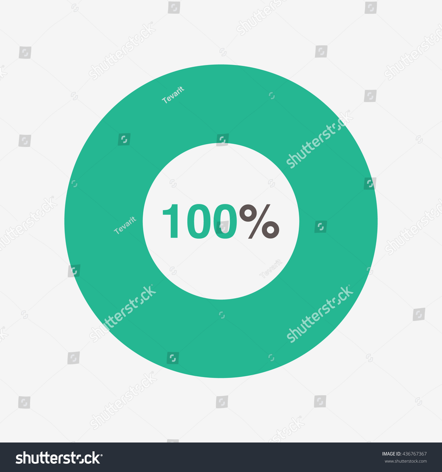 Icon pie green black chart 100 stock vector 436767367 shutterstock icon pie green and black chart 100 percent pie chart vector geenschuldenfo Gallery