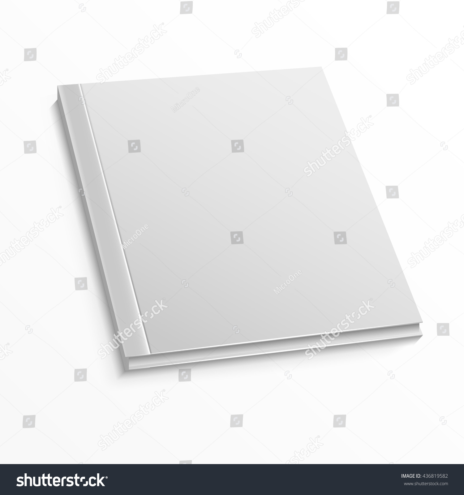 Blank Magazine Cover Template On White Stock Vector 436819582