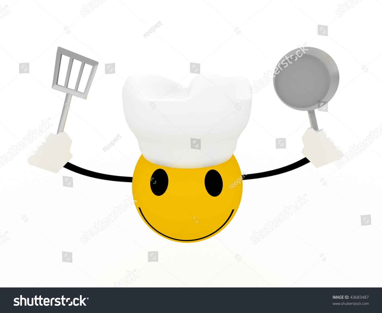 Smiley Chef Frying Pan Spatula On Stock Illustration 43683487