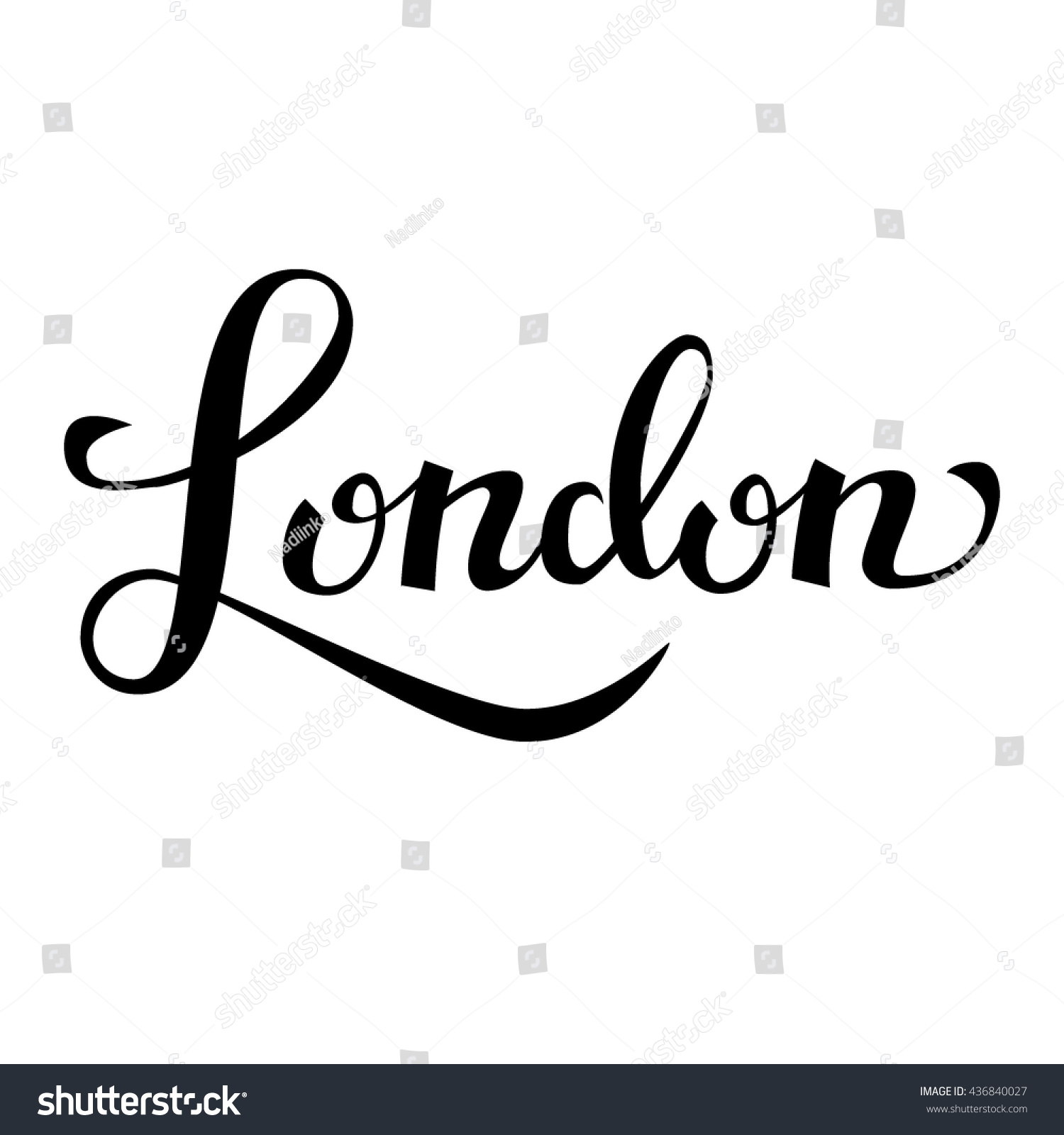 London hand drawn vector lettering modern calligraphy