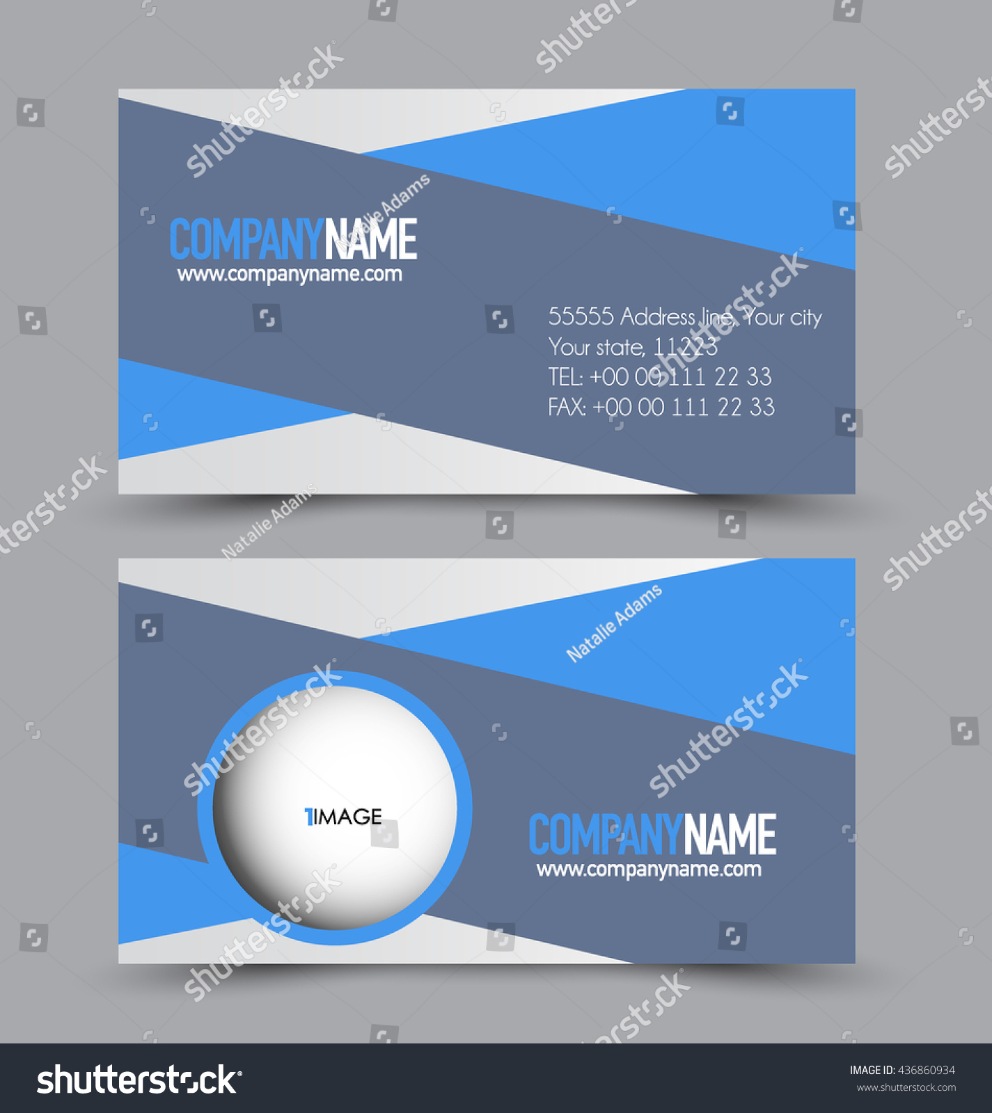 Business Card Design Set Template pany Stock Vector