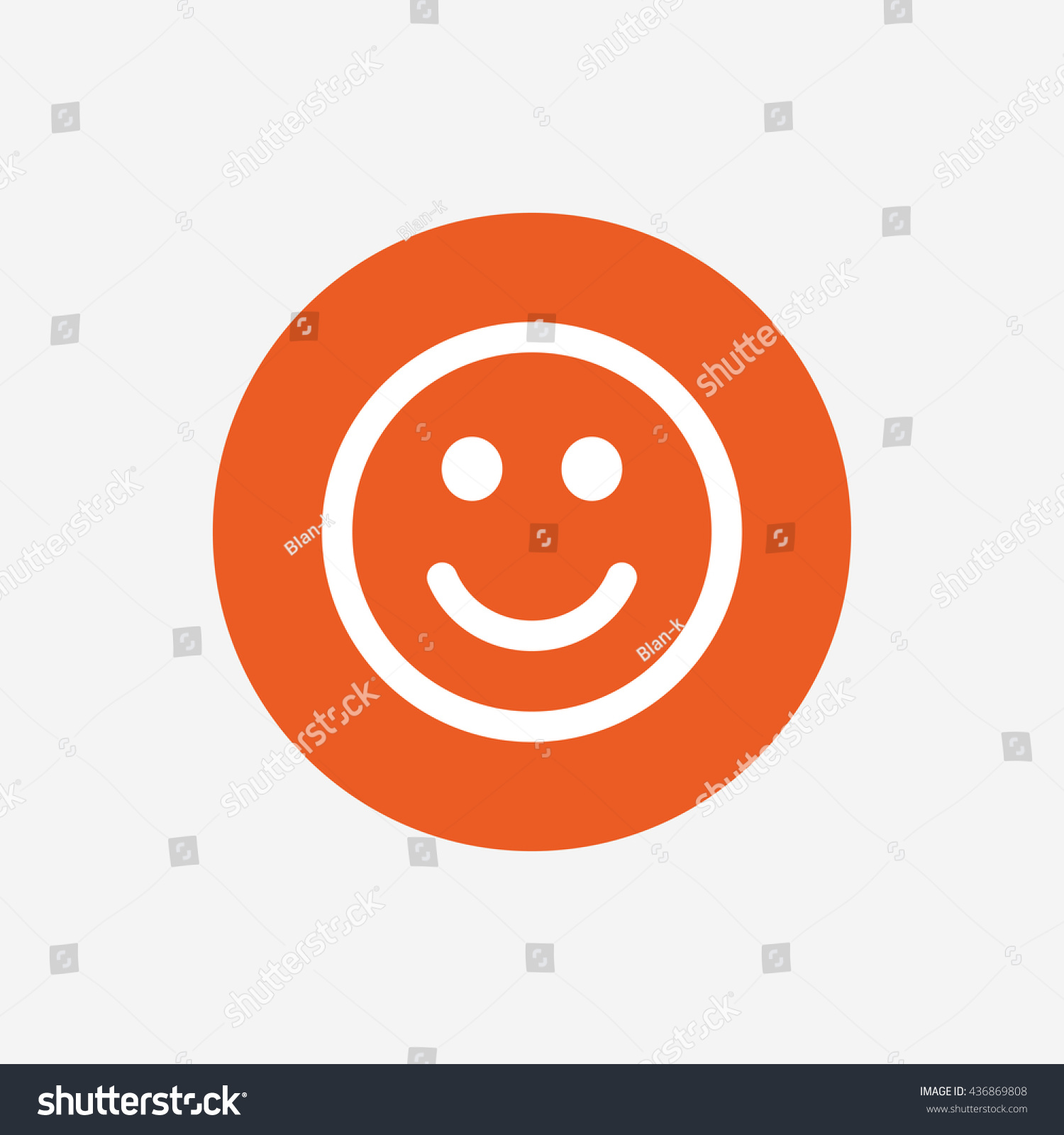 Smile icon happy face chat symbol orange circle button - Chat orange ...