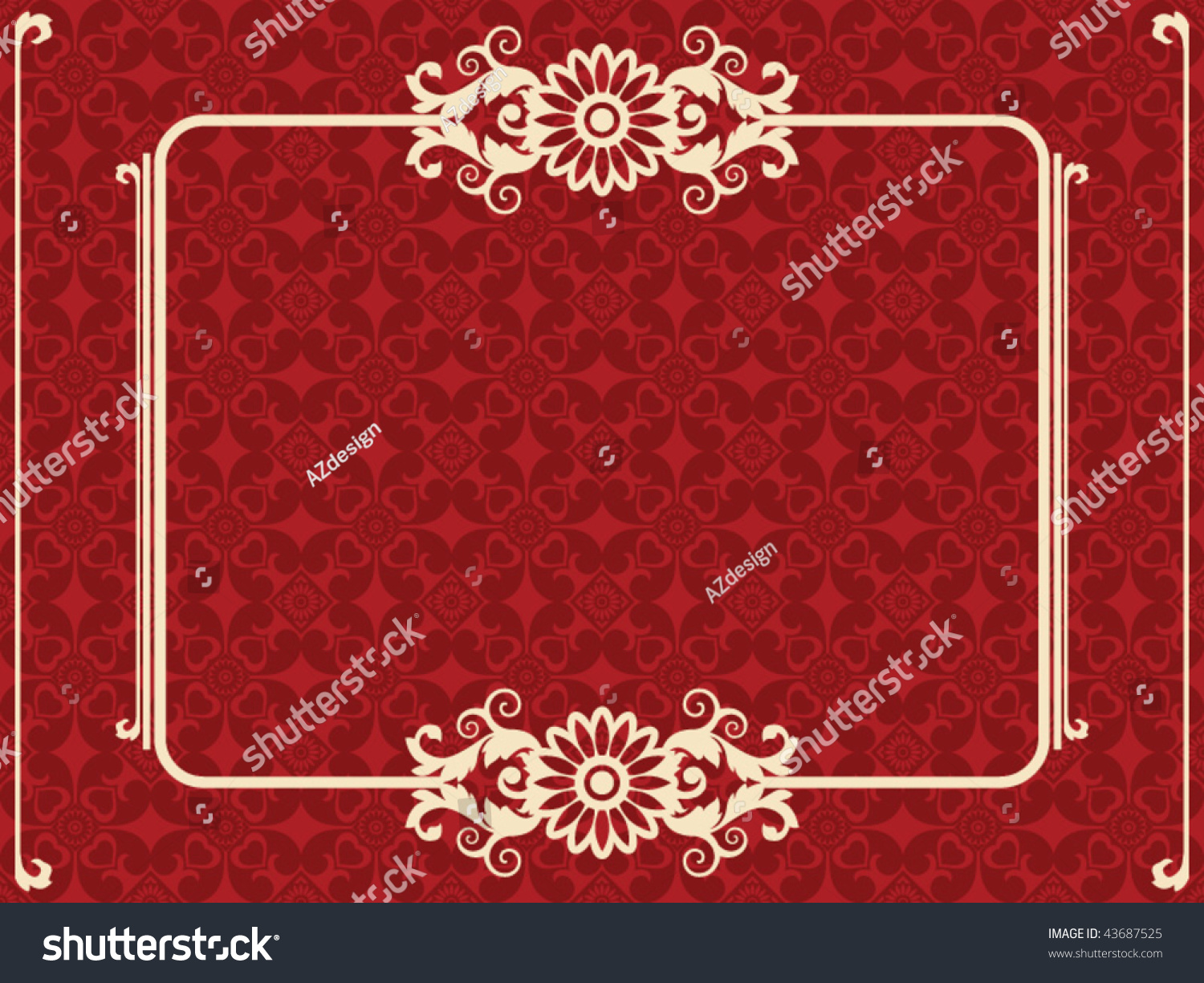 Baroque design elements vector illustration 43687525 for Baroque design elements
