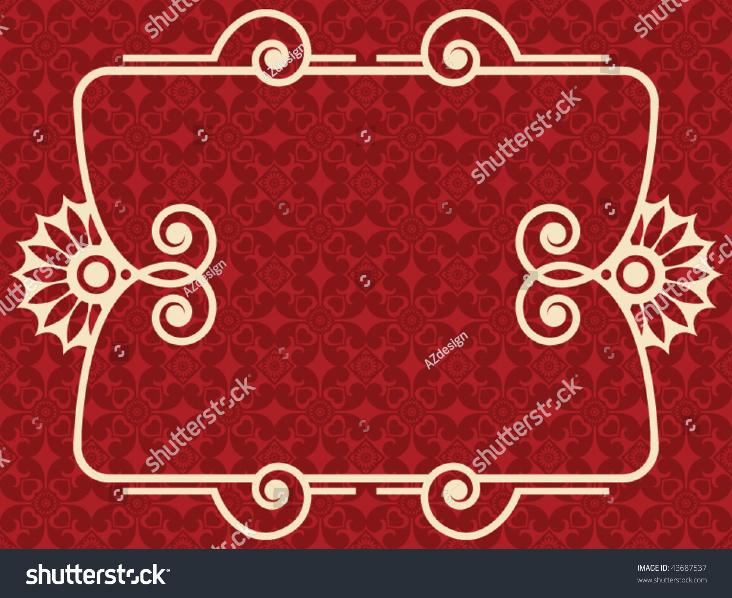 Baroque design elements vector illustration 43687537 for Baroque architecture elements