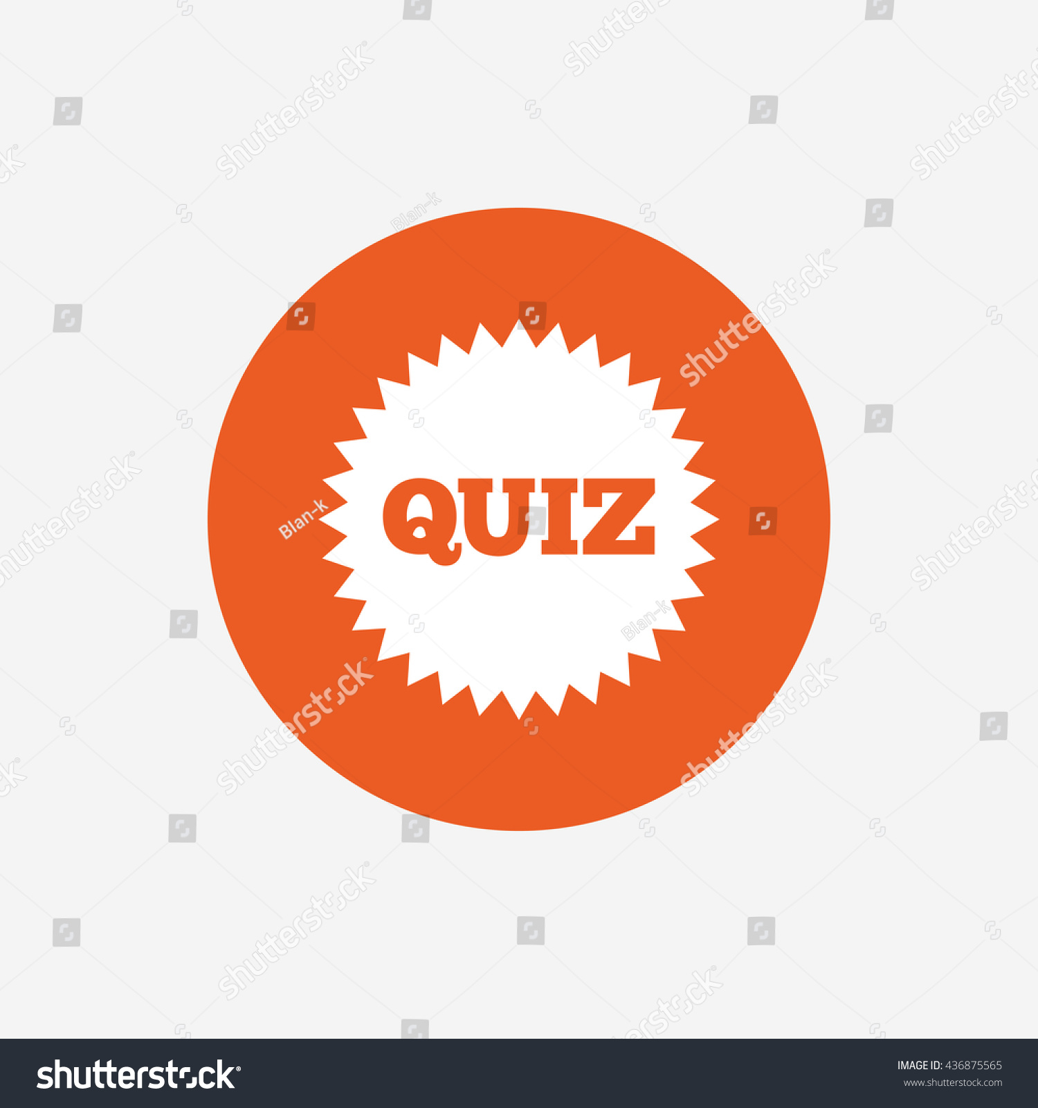 quiz star sign icon questions and answers game symbol orange save to a lightbox