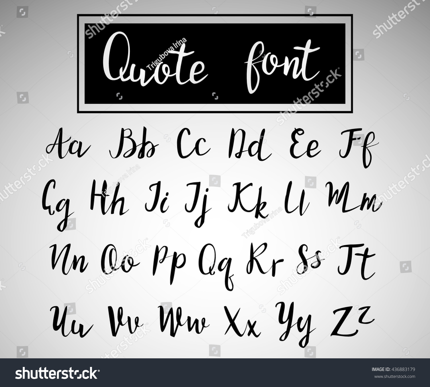Hand Drawn Modern Script Quote Font Handwritten Alphabet For Quotes And Lettering Black